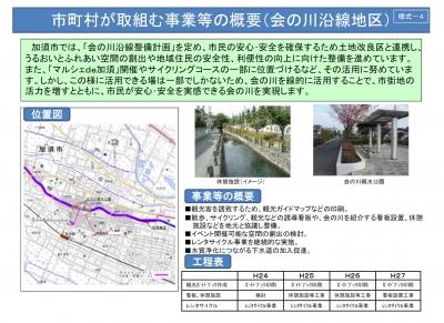 会の川沿線整備計画